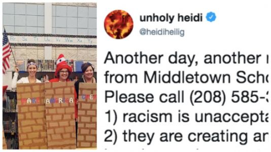 Elementary Teachers Dress Up As Mexicans And The Border Wall For Halloween