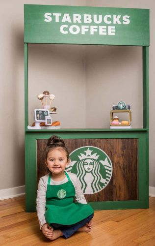 Mom Builds Mini Target and Starbucks In Her Daughter's Playroom