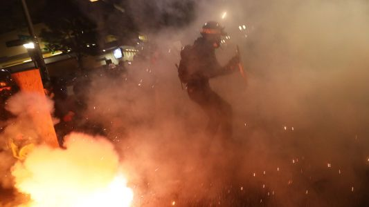 """Portland """"protesters"""" are launching coordinated LASER attacks on federal officers"""