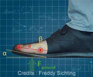 Curve at Shoe Tips may Lead to Weaker Muscles