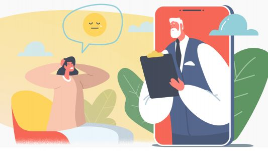 Therapists Distracted by Social Media While Delivering Virtual Care