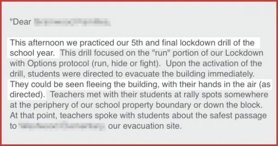 My Son Spent Yesterday 'Fleeing The Building, Hands In Air' During His Lockdown Drill