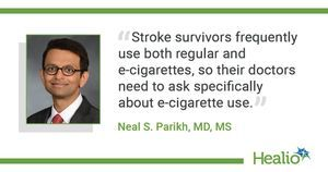 Among stroke survivors who smoke, e-cigarette users more likely to quit