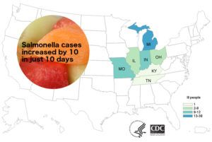 New cases of salmonellosis reported in melon-related outbreak