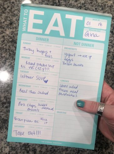 """This """"What To Eat"""" Pad Makes Planning Dinner So Much Less Of A Pain In The Ass"""