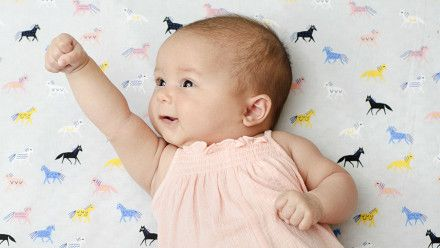 Two-month-old baby sleep and feeding schedule