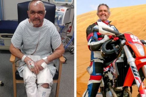 Off-road biker's brain tumour is wrapped around vital blood vessels and can't be removed