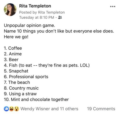 """The """"Unpopular Opinion Game"""" Is Going Viral, And Here's My List"""