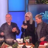 """Wolfgang Puck Shares His Vegan Oscars Party Dishes on Ellen, Including Raw-Apple """"Sushi"""""""