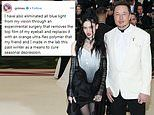 Grimes says she has REPLACED the top layer of her eyeball with polymer she made in a lab