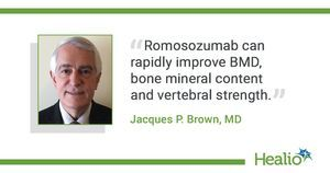 Greater lumbar spine BMD gains with romosozumab for postmenopausal women