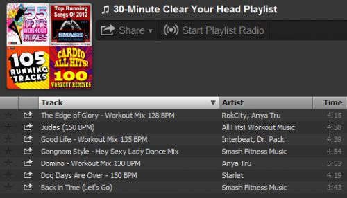 A 30-Minute 'Clear Your Head' Cardio Playlist