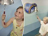 Moment children who survived cancer ring a bell to celebrate