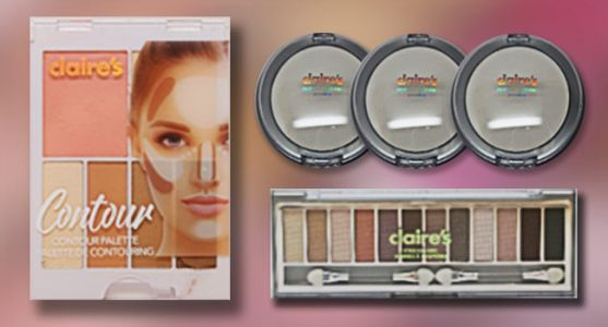 Claire's Recalls 3 Cosmetic Products Due to Possible Asbestos Contamination