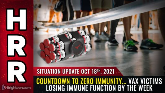 Countdown to ZERO IMMUNITY. vaccine victims are seeing their immune response drop by about 5% each week, with long-term consequences mirroring AIDS