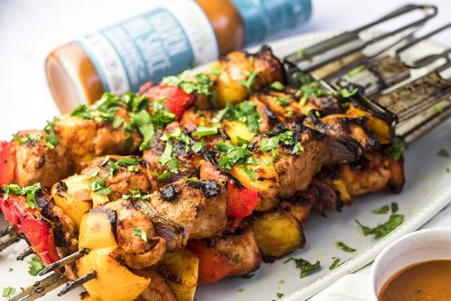 Tangy Pork and Pineapple Kebabs