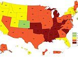 CDC map reveals the 12 US states where more than 35% of people are 'dangerously' overweight