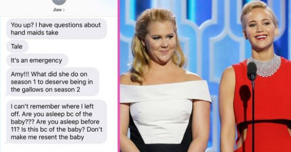 Jennifer Lawrence Texting Amy Schumer Is All Of Our Childless Friends Not Accepting We Have Babies