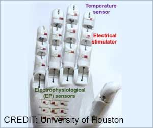 Novel Medical Robotic Hand Using Rubbery Semiconductor